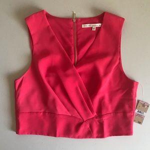 {RACHEL Rachel Roy} Flamingo Pink Crop Top